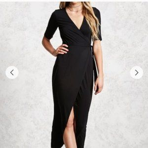 Forever 21 Gray Wrap Maxi Dress
